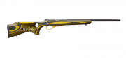 CZ 455 Thumbhole Yellow Fluted