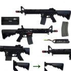 Specna Arms FUCILE SOFTAIR ELETTRICO FULL METAL M4 CQB SA-A04 FULL METAL