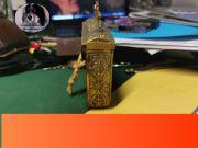Cartucciera vintage in ottone antiquariato