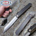 Kanekoma Higonokami - Sadakoma Higo - coltello tradizionale giapponese - cuoio nero 018208 - coltello