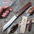 Kanekoma Higonokami - Sadakoma Higo coltello tradizionale giapponese - cuoio marrone 018209 - coltello