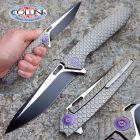 We Knife Co. We Knife Co. - Dragon Scale Flipper Dual Tone Gray - 604I - knife