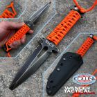 WanderTactical Wander Tactical - MAS1 Rescue SICS - Iron Wash with Orange Paracord - coltello artigianale