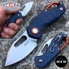 MKM MKM & Fox - Isonzo knife clip point blu by Vox - MK-FX03-3PBL - coltello