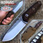 WanderTactical Wander Tactical - Scrambler knife - SanMai V-Toku2 & Brown Micarta - coltello custom