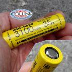 Nitecore Nitecore - IMR18650 - Batteria ricaricabile 3.6V per CI7, P18, P22R, MH23 - 35A - 3100mAh
