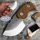WanderTactical Wander Tactical - Tryceratops Black GunKote & Brown Micarta - coltello custom