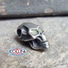 No Brand Schmuckatelli - Ciondolo Fermafilo - Glow Flat Skull Bead - Orizzontale - Gadget