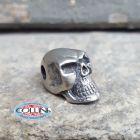 No Brand Schmuckatelli - Ciondolo Fermafilo - Round Skull Bead - Orizzontale - Gadget