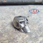 No Brand Schmuckatelli - Ciondolo Fermafilo - Round Skull Bead - Verticale - Gadget