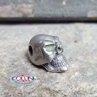 No Brand Schmuckatelli - Ciondolo Fermafilo - Glow Round Skull Bead - Orizzontale - Gadget