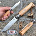 Opinel Opinel - n.8 con cordino in cuoio - lama inox - coltello