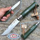 Opinel Opinel - n.8 Green con cordino in cuoio - lama inox - coltello