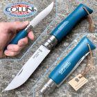 Opinel Opinel - n.8 Blu con cordino in cuoio - lama inox - coltello