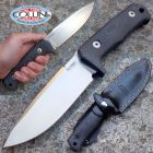 Lion Steel Lionsteel - T5 Satinato - Black Canvas Micarta - T5MI - coltello