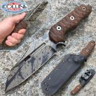 WanderTactical Wander Tactical - Mistral - Black Blood Finish con micarta Dark Wood - coltello custom