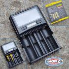 Nitecore Nitecore - Superb Charger SC4 EU - Caricabatterie Universale Ultrarapido - per RCR123A, 18650, 14500, C, AA, AAA