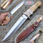 """No Brand Paolo Gidoni """"Gidowolf"""" - Integral Knife con impugnatura in osso di giraffa - coltello artigianale"""