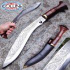 """Nepal Kukri Kukri Artigianale - Sirupate 15"""" - INCISO - manico legno - coltello"""
