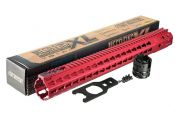"Strike Industries Strike Industries MEGAFINS XL 17"" Rail with KeyMod - Red"
