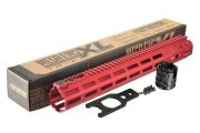 "Strike Industries Strike Industries MEGAFINS XL 15"" Rail with MLOK - Red"