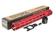 "Strike Industries Strike Industries MEGAFINS XL 16.25"" Rail with MLOK - Red"