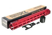"Strike Industries Strike Industries MEGAFINS XL 17"" Rail with MLOK - Red"